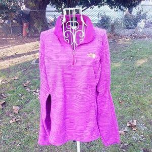 THE NORTH FACE Bright Pink Fleece Shirt XL